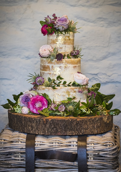 prices three tier naked semi naked cake
