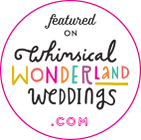 logo whimsical wonderland weddings